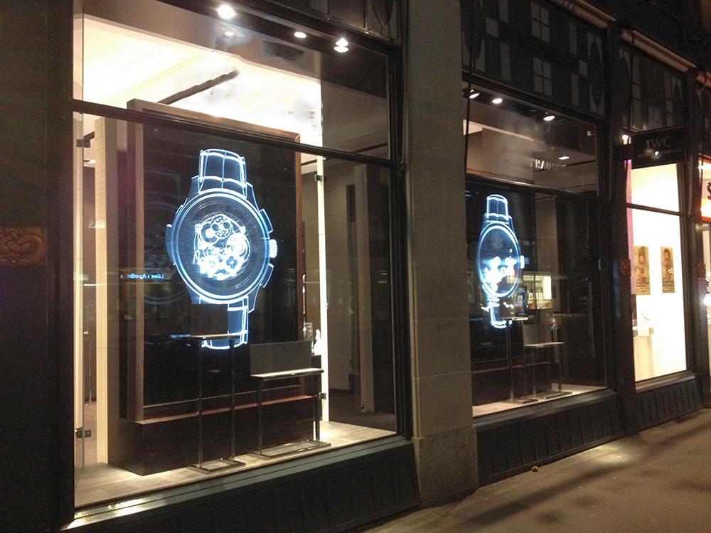 Leucht-Display – Schaufensterdisplay mit Lichtwechsel